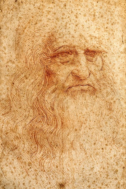 'Self-portrait', c.1513, by Leonardo da Vinci