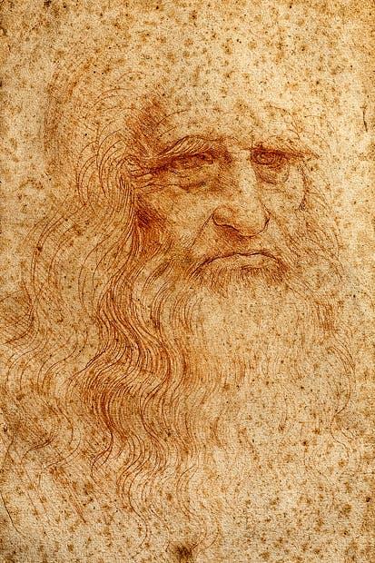 'Self-portrait', c.1513, by Leonardo da Vinci