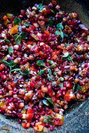 Ottolenghi's tomato and pomegranate salad