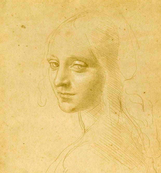 'Portrait of a Young Girl', presumed study for the angel in 'The Virgin of the Rocks' by Leonardo da Vinci