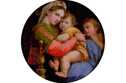 In the dialogue in front of Raphael's 'Madonna della Sedia', Martin Gayford takes the lead