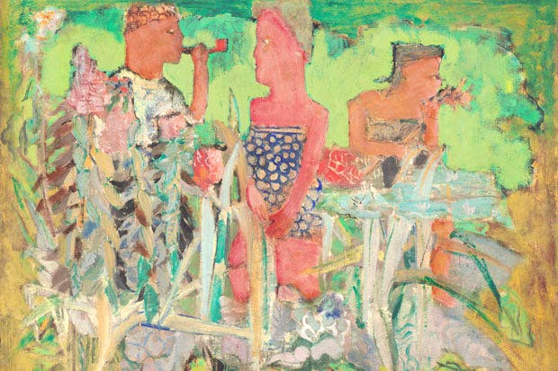 Finding his feet: 'Untitled (man and two women in a pastoral setting)', 1940