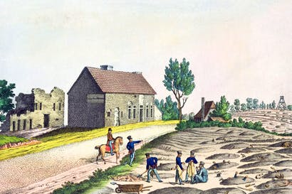 Burying the dead of Waterloo