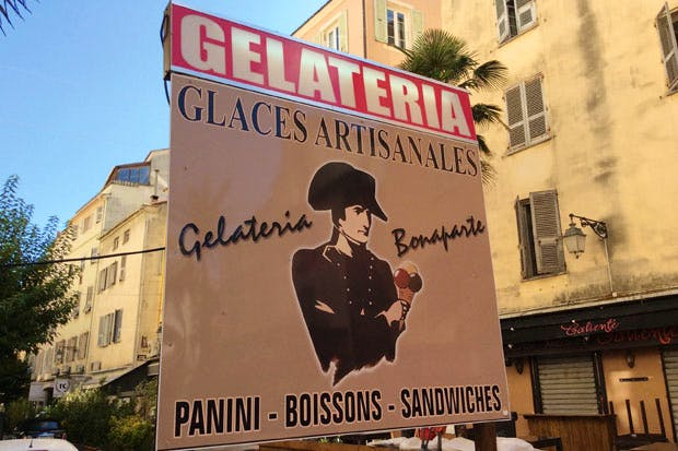 Knockout lemon sorbet: Gelateria Bonaparte