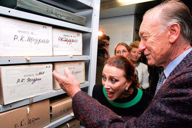 Shchedrin and Plisetskaya hand over their files to the Russian state literature and art archive in Moscow