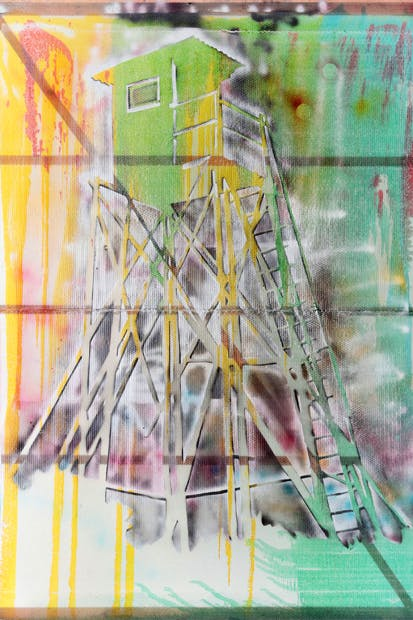'Watchtower (Hochsitz)', 1984, by Sigmar Polke
