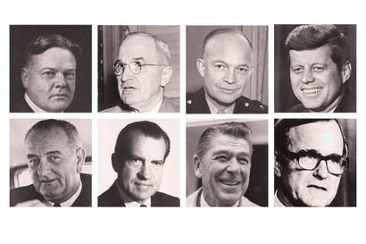 All Worsthorne's men: Hoover, surprisingly nice; Truman, smiling until Perry spoke; Eisenhower, who mocked his name; Kennedy, a hero; LBJ, a boor; Nixon, a friend; Reagan; and the first Bush