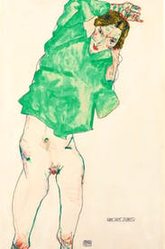 'Before the Mirror', 1913, by Egon Schiele