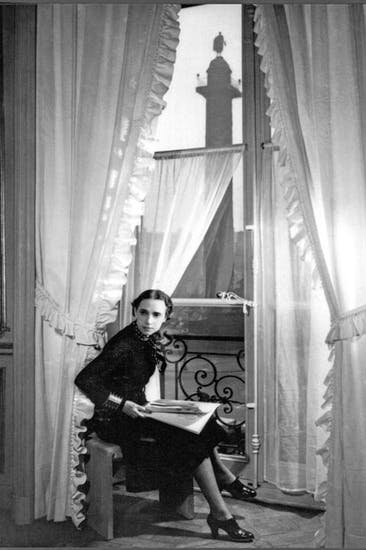 Elsa Schiaparelli in an apartment in the Place Vendôme, in the shadow of Napoleon