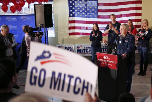 Mitch McConnell Campaigns Across Kentucky As Midterm Election Nears