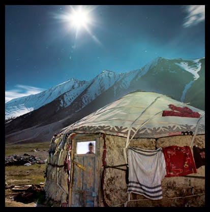 Nomad camp in the Wakhan, Afghanistan, from The History of Central Asia