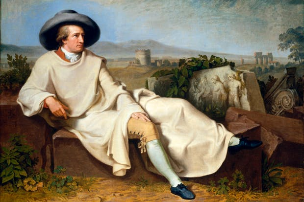 The undiscovered country: 'Germany? Where is it?', asked Goethe and Schiller in a collaborative poem. 'I don't know where to find such a place.' Above: 'Goethe in the Roman Campagna', 1787, by Johann Tischbein, currently on show at the British Museum