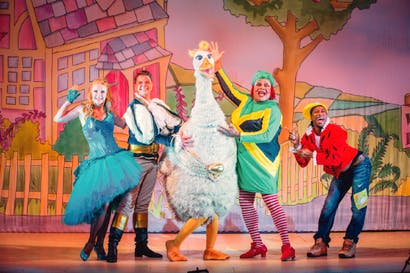 Slick, handsome and richly costumed: 'Mother Goose' at the Hackney Empire