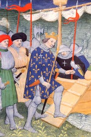 King Louis IX embarks for the Crusades