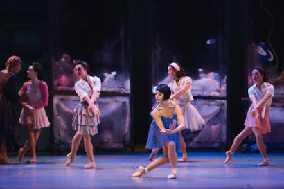 Better than Leslie Caron: Leanne Cope (Lise) and the company in 'An American in Paris'