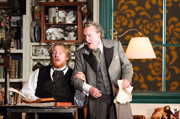 Starry night: Iain Patterson as Sachs and Andrew Shore as Beckmesser in a triumphant 'Mastersingers of Nuremberg'