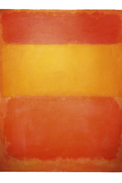 'Orange, Red, Yellow', 1956, by Mark Rothko