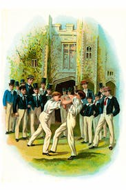 From Tom Brown's School Days, illustrated by Thomas Hughes