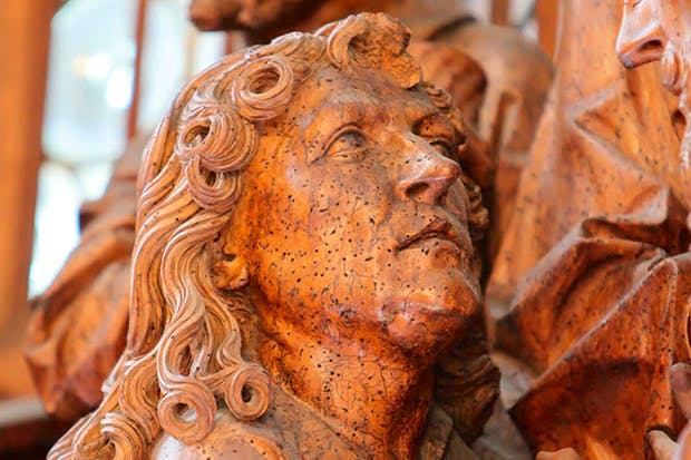Detail from the great and strange Altar of the Holy Blood by Tilman Riemenschneider at the Jakobskirche, Rothenburg ob der Tauber