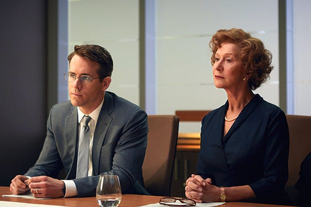 Ryan Reynolds and Helen Mirren in 'Woman in Gold'