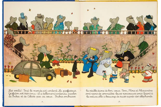 The importance of illustration: Babar et le Professeur Grifaton by Laurent de Brunhoff
