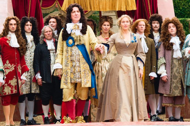 Gardeners' world: Alan Rickman (Louis XIV) and Kate Winslet (Sabine De Barra) at Versailles