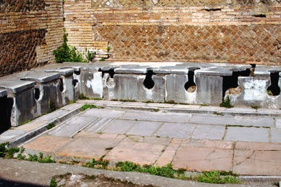 Latrines dating from the second century at Ostia Antica, outside Rome
