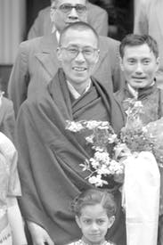 Gyalo Thondup (right) pictured with the Dalai Lama on their arrival in India in 1959