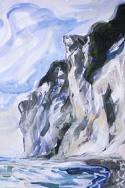 Møns Klint as painted by Claudia Massie