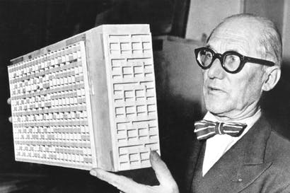 Scapegoat for all of urban life's ills: Le Corbusier, c.1950