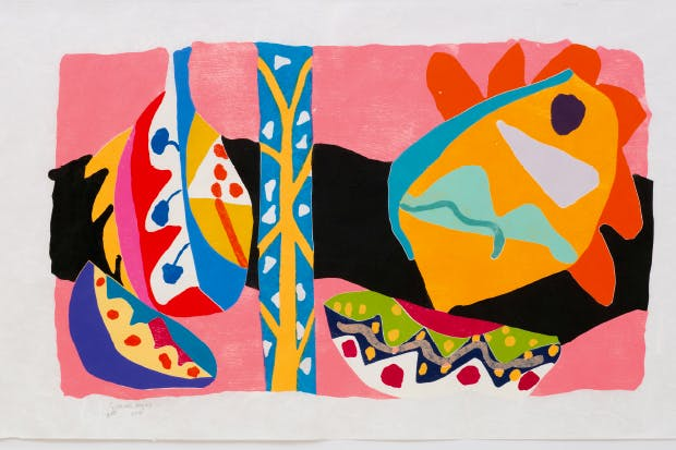 'Claros' (woodcut), 2015, by Gillian Ayres