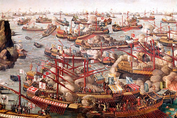The battle of Lepanto, October 1571