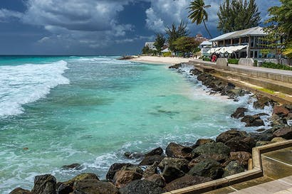 A stormy day in Hastings, Barbados