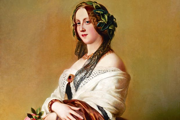 Harriet Howard, Duchess of Sutherland, by William Corden the Younger, after Franz Xavier Winterhalter. 'What a hold the place has on one,' she observed of Cliveden