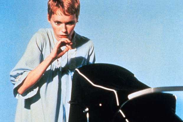 Anxious young mother — Mia Farrow in Rosemary's Baby