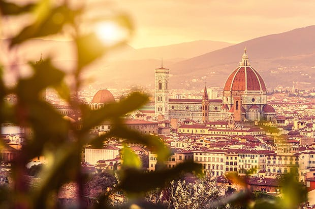 Please don't faint: Florence at sunset