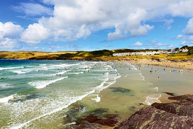 Tides of wealth: Polzeath beach