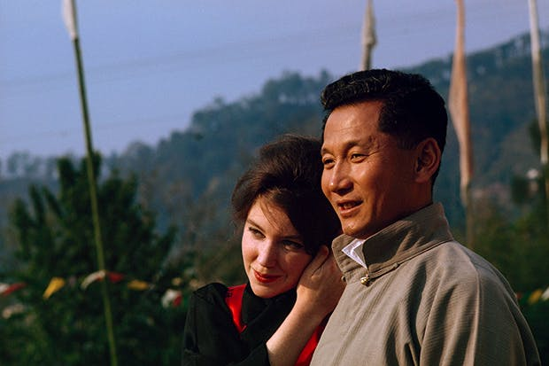 Thondup and Hope on honeymoon in 1963
