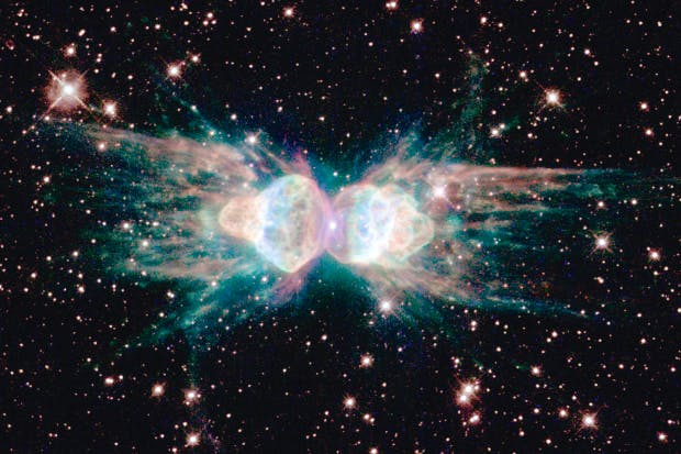 The Ant Nebula, located a mere 3,000–6,000 light years from Earth in the southern constellation Norma