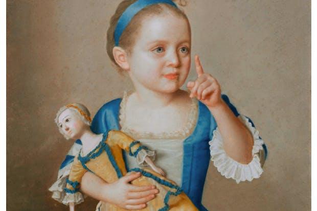 'Marie-Anne Françoise Liotard with a Doll', c.1744, by Jean-Etienne Liotard