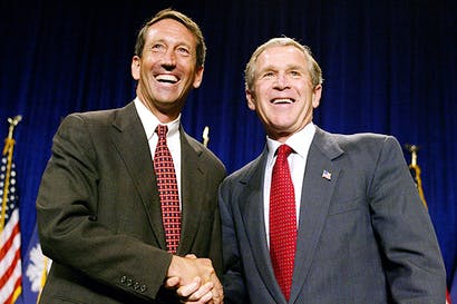 Mark Sanford and George W. Bush in 2002