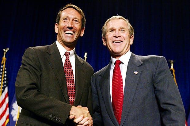 Mark Sanford and George W. Bush in 2002