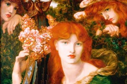 'La Ghirlandata' by Dante Gabriel Rossetti