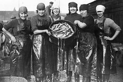 Herring girls had to wash their hair six times on a Saturday night to rinse out the smell