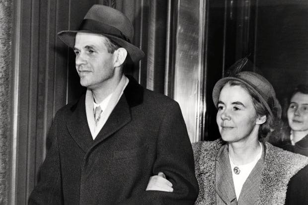 Alger Hiss attends his trial (Photo: Getty)