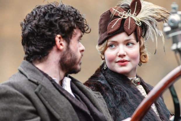 Novel romance: Richard Madden as Mellors and Holliday Grainger as Constance Chatterley