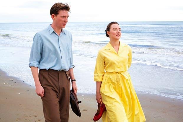 Domhnall Gleeson as Jim Farrell and Saoirse Ronan as Eilis in 'Brooklyn'