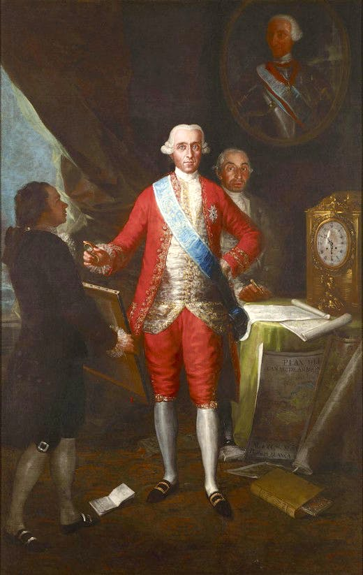 Goya's 'Count of Floridablanca' (1783)