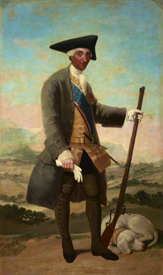 Goya's 'Charles III in Hunting Dress'