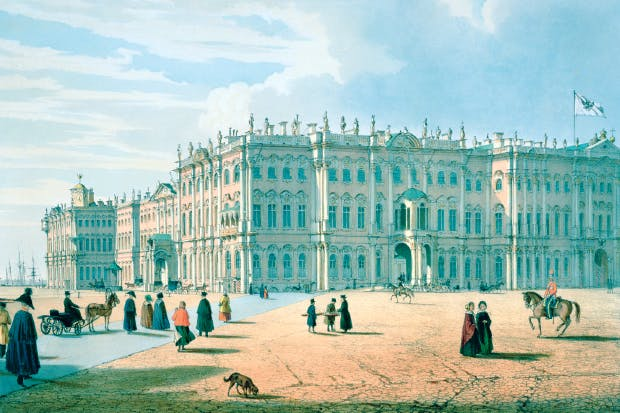 The Winter Palace, St Petersburg, 1840, by Ferdinand Victor Perrot (Pushkin Museum)